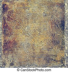 Old grunge vintage background or shabby texture with different color patterns: yellow (beige); brown; blue; purple (violet); gray