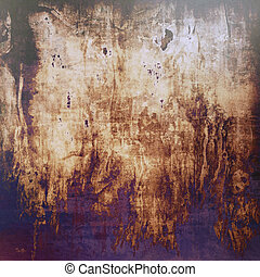 Old grunge vintage background or shabby texture with different color patterns: yellow (beige); brown; gray; blue; purple (violet); black
