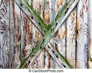 old, grunge wood used as background