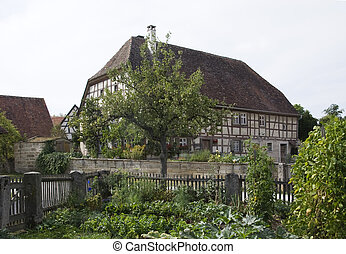 old half-timbered house in germany