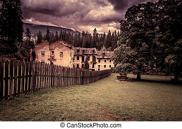 Old halloween house