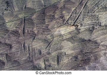 Old hand carved log background