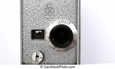 Old Hand Held Reel Film Camera - This classic camera is an...