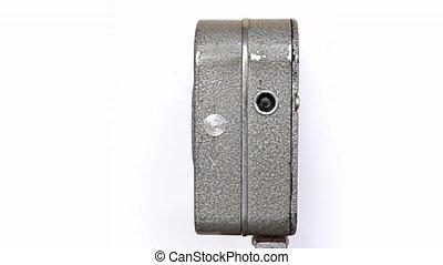Old Hand Held Reel Film Camera