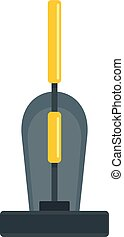 Old hand vacuum cleaner icon, flat style - Old hand vacuum...