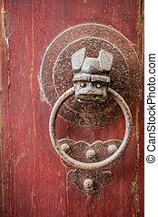 old handle door