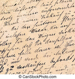 Old handwriting - circa 1881 - Old manuscript with vintage...