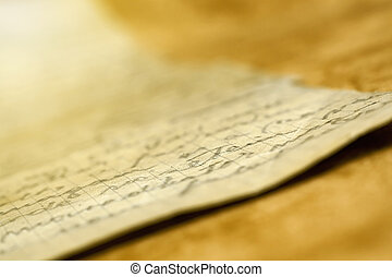 Old handwriting letter