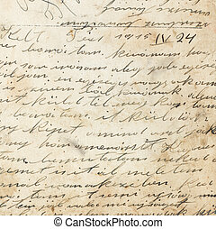 Old handwriting of 1915