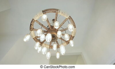 Old Hanging Chandelier - Old Black Chandelier Hanging on...