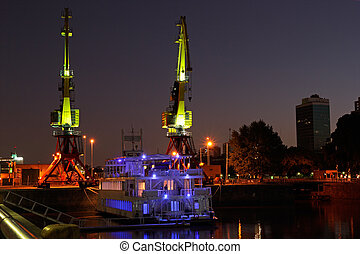Old harbor, Buenos Aires - View of the old harbor area...
