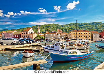 Old harbor of Stari Grad on Hvar island, Dalmatia, Croatia