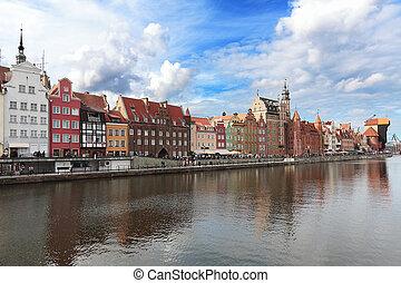 Old harbour in Gdansk