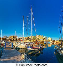 Old harbour of Heraklion, Crete, Greece