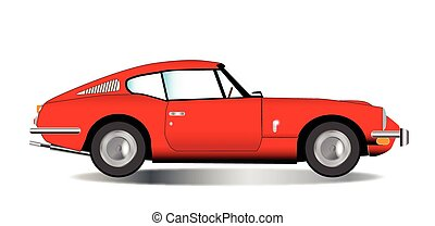 Old Hard Top Sports Car - A classic old British hard top...