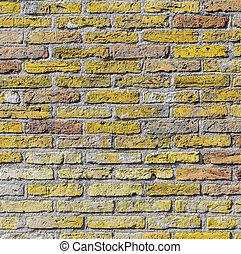 old harmonic brick wall background