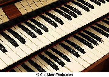 Old harpsichord keys