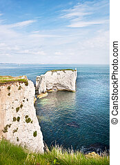 Old Harry Rocks on Jurassic Coast in Dorest England, UNESCO World Heritage location