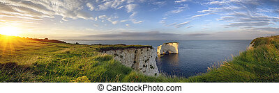Old Harry Rocks on the Jurassic Coast in Dorset