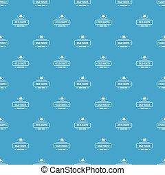 Old hat pattern vector seamless blue repeat for any use