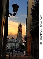 Old Havaan plaza - A view of Old havana plaza and church...