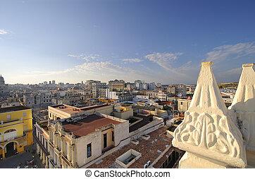 Old Havana cityscape - Old Havana skyline from vintage ...