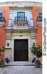 Old havana colonial building facade - Detail of facade from ...