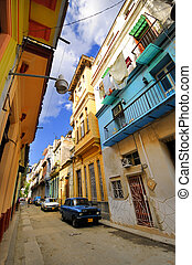 Old Havana colorful facades