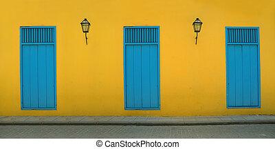 Old havana facada - Detail of Old Havana building facade in ...