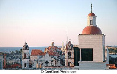 Old Havana skylight at sunset