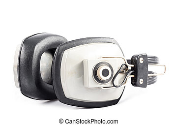 Old headphones isolated