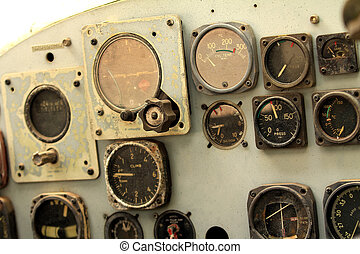 old helicopter board panel