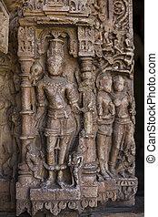 Old Hindu Sas-Bahu Temple in Rajasthan, near Udaipur, India.