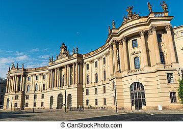 Old historic building at the Unter den Linden boulevard in...
