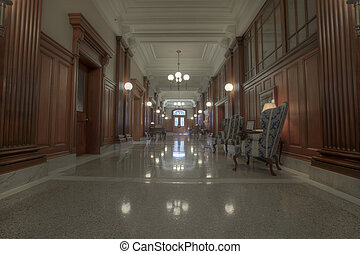 Old Historic Building Hallway - Old Historic Court House...