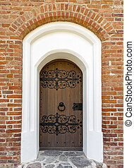 Old historic decorated doors