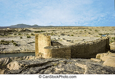 old historic rotten lock in the desert near Marib