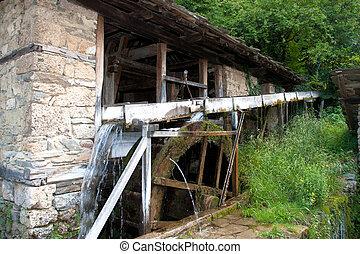 old historic sawmill