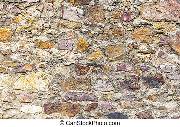 old historic stone wall as harmonic background