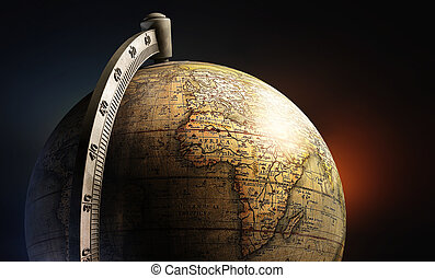 old history map desktop metal globe