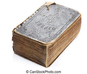 old holy bible isolated