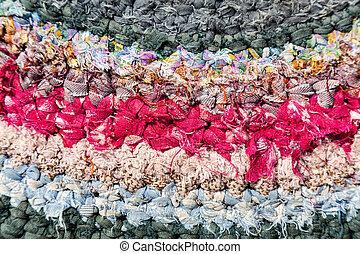 Old homespun doormat as cretive background - Old handicraft ...