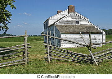 Old Homestead - A historic farmhouse and field in Monmouth...