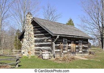 old Homestead - old fashioned cottage type home