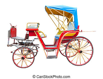 old horse drawn carriage isolated o