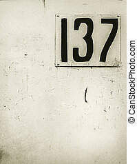 house address number plate