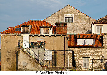 Old House and Stairs in Dubrovnik, Croatia