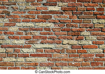 old house brick wall detail