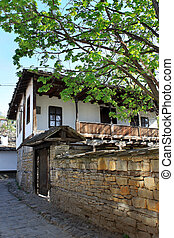 Traditional 19-th century house from Lovech, Bulgaria, Eastern Europe - typical architecture for the region