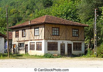 Old house from Black Sea region of Turkey